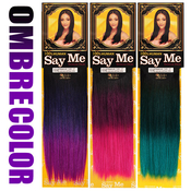 Say Me Human Hair Blend Weave Premium Yaki Special Ombre Color
