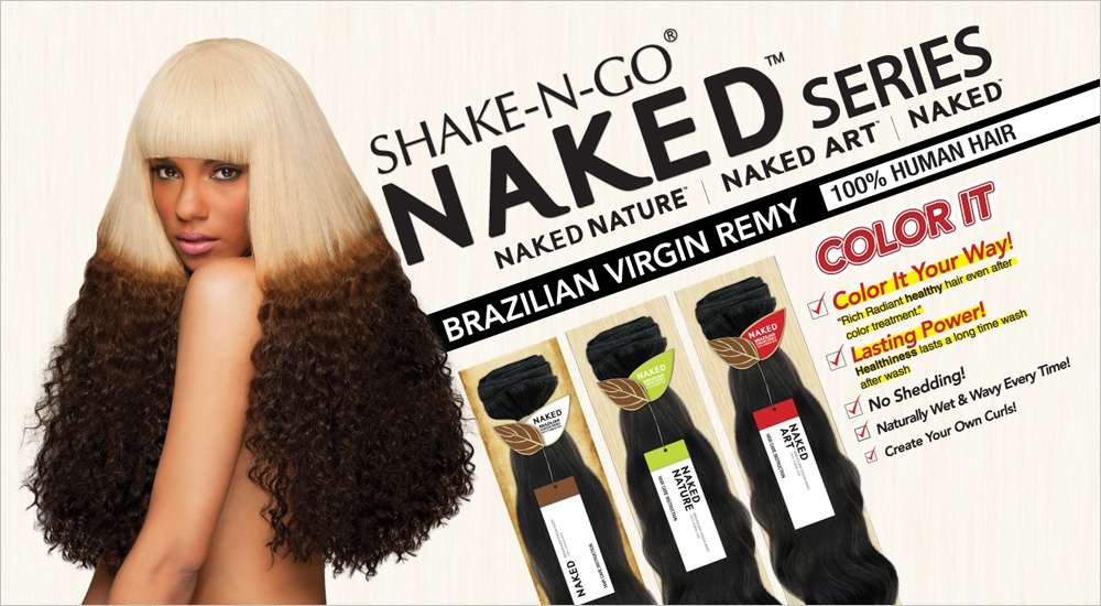 Shake N Go Unprocessed Brazilian Virgin Remy Human Hair Weave Naked