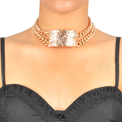 Textured Choker ID Necklace