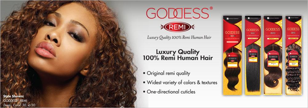 Sensationnel Remy Human Hair Weave Goddess Silky 18 Samsbeauty
