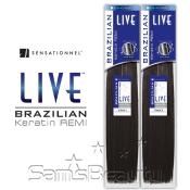 Sensationnel Remy Human Hair Weave LIVE Brazilian Keratin Remy Yaki
