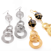 Stylish Spiral Dangle Earrings