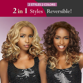 Sensationnel Synthetic Hair Half Wig Instant Weave 2 in 1 Style ...
