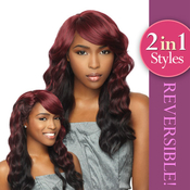 Sensationnel Synthetic Hair Wig Totally Instant Weave 2 in 1 Style Reversible Lavender