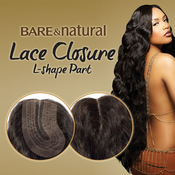 Sensationnel Unprocessed Brazilian Virgin Remy Human Hair Weave Bare AMP; Natural LShape Part Lace Closure Natural Wavy 12