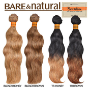 Sensationnel PreBleached Brazilian Virgin Remy Human Hair Weave Bare AMP; Natural Natural Wavy