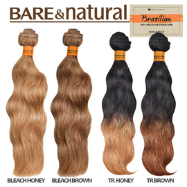 Sensationnel Pre Bleached Brazilian Virgin Remy Human Hair Weave Bare Natural Wavy