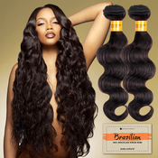 Sensationnel Unprocessed Brazilian Virgin Remy Human Hair Weave Bare AMP; Natural Body Wave
