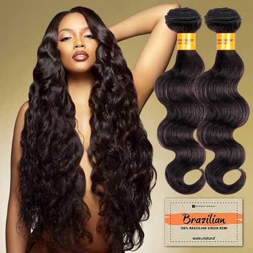 Sensationnel Unprocessed Brazilian Virgin Remy Human Hair Weave Bare Natural Body Wave