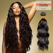 Sensationnel Unprocessed Brazilian Virgin Remy Human Hair Weave Bare AMP; Natural Natural Wavy