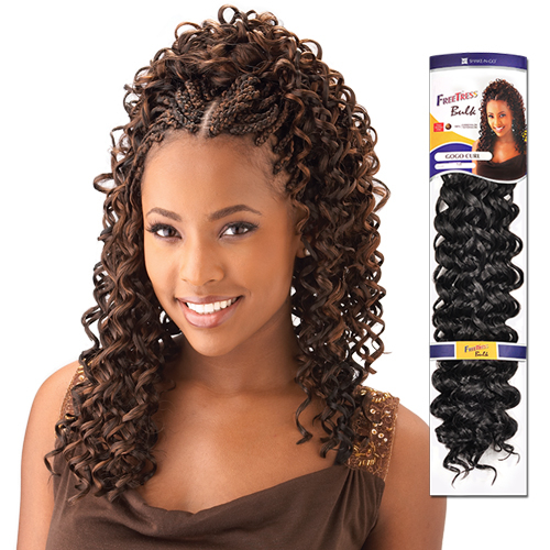 Crochet Hairstyles With Gogo Curl : FreeTress Synthetic Hair Crochet Braids GoGo Curl - SamsBeauty