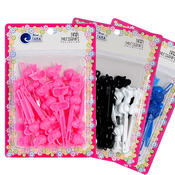 Bow Plastic Hair Barrettes Hair ClipsChoose Your Color