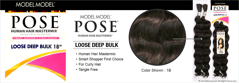 Human Hair Master Mix Braids Modelmodel Pose Loose Deep Bulk